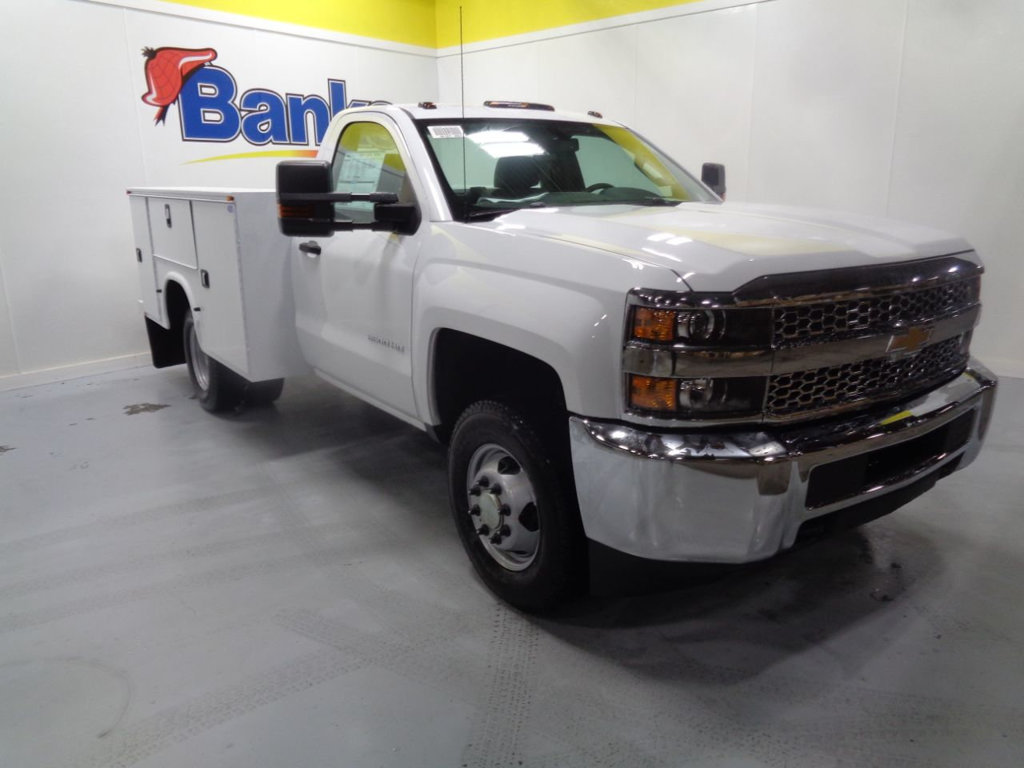 Chevy Work Truck >> New 2019 Chevrolet Silverado 3500hd 4wd Regular Cab Work Truck With Utility Body Four Wheel Drive Truck