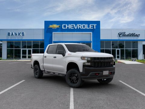 "New 2019 Chevrolet Silverado 1500 4WD Crew Cab 147"" Custom Trail Boss"