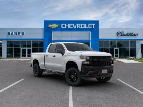 "New 2019 Chevrolet Silverado 1500 4WD Double Cab 147"" Custom Trail Boss"