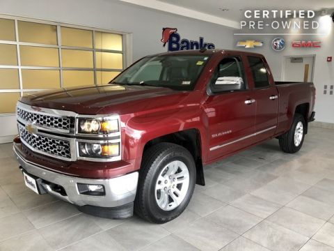 "Certified Pre-Owned 2014 Chevrolet Silverado 1500 4WD Double Cab 143.5"" LTZ"
