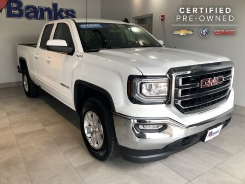 "Certified Pre-Owned 2018 GMC Sierra 1500 4WD Double Cab 143.5"" SLE"