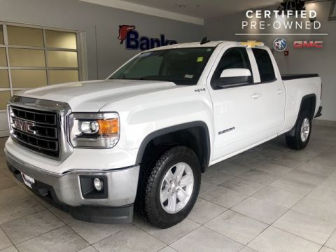 "Certified Pre-Owned 2015 GMC Sierra 1500 4WD Double Cab 143.5"" SLE"