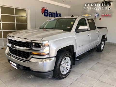 Certified Pre-Owned 2018 Chevrolet Silverado 1500 4WD Crew Cab LT